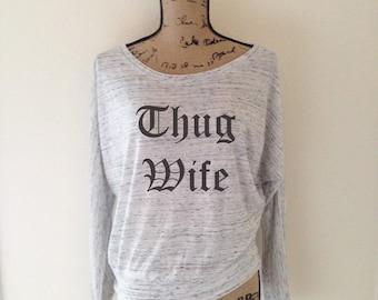 Thug Wife Tank Top for Women - Wife Tank Tops - Wife Shirts - Thug Wife Shirt - Funny Wife Shirts - Cute Wife Shirts