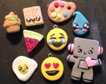 custom clay charms