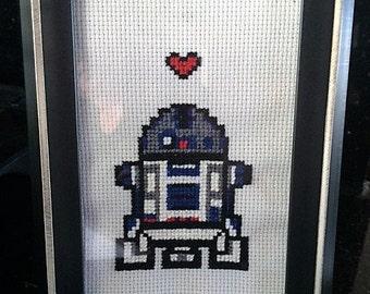 Star Wars R2D2 cross stitch