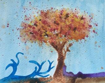 watercolor tree original