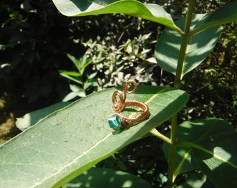 Curly Wire Wrap Adjustable Ring