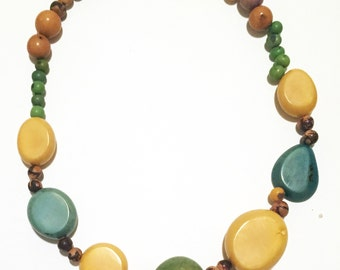Brazilian Wooden Bead Necklace
