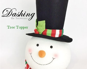 Snowman Head Tree-Topper - LARGEST, HAPPIEST One Ever Made!