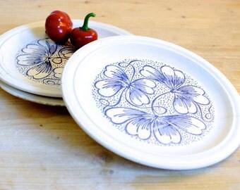 Plates, Dishes, Porcelain plates, Dinnerware set, Floral plate, dinner plates, Ceramic plates, Cake plate, Kitchen decor, Handpainted plate