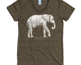 Elephant Sanctuary T Shirt - African Elephant Tee Shirt - Elephant Shirt - Women's American Apparel T Shirt - Item 1026