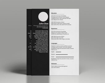 minimalist cv template professional resume template word resume template resume template adobe illustrator