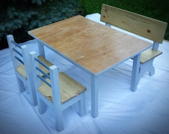 Kids Table Set with Two Chairs