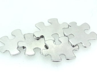 16G 1.2mm thick Aluminium blanks x10 - jigsaw puzzle piece - stamping supplies