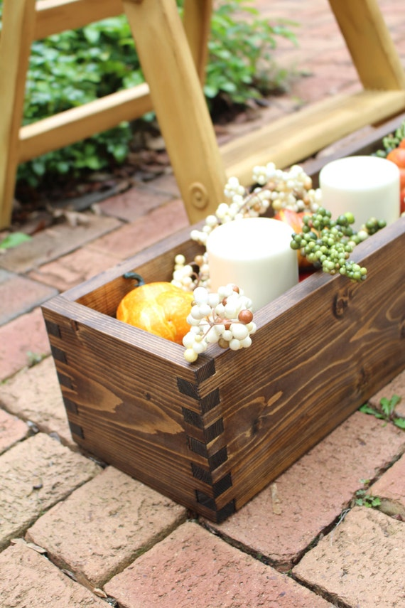 Rustic centerpiece box planter flower