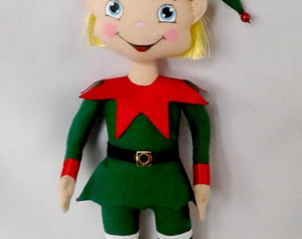 Elf Forest christmas elf interior doll christmas decoration fantasy doll handmade textile doll