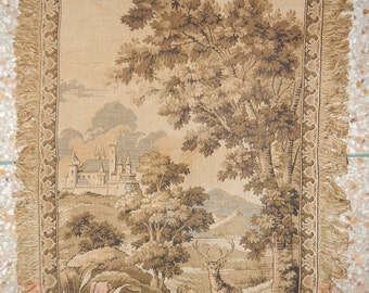Vintage French Beautiful Tapestry 065