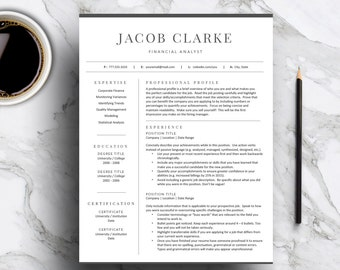 Classic resume etsy classic resume template for word pages 1 and 2 page resume cover letter yelopaper Image collections