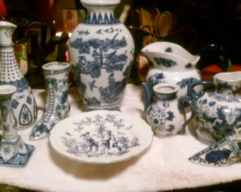 Assoted Blue & White Collection 10 pieces