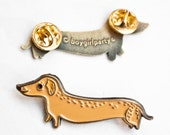 Dachshund Enamel Pin Dog Pin Dachshund Pin Dachshund Gift Dachshund Jewelry Wiener Dog Enamel Pin Dog Brooch Pins