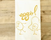 Eggs funny kitchen towel foodie gift fried egg tea towel eggs unique cooking gift chef gift kitchen decor funny foods modern farmhouse