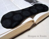 Book Weight - Dark Grey Medallion on Black