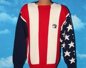 RESERVED for Kieran Tregidga Tommy Hilfiger Red White Blue USA Flag Sweater