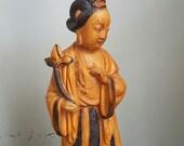 Vintage Asian Maiden Women Lamp