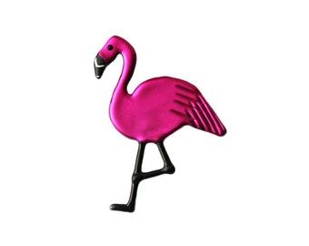 Pink Flamingo Pin, Flamingo Brooch or Magnet, Pink Flamingo Jewelry