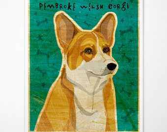 Gift for Coworker Gift- Pembroke Welsh Corgi Print- Dog Wall Art- Welsh Corgi Art- Dog Print- Corgi Gifts- Corgi Gift for Corgi Lover- Gifts