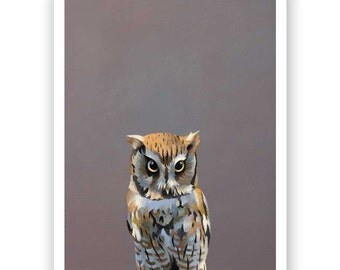 Yes You Can Fart In An Uber—For A Fee 11 x 14 Art Print - Bird - Owl - Giclee - Animal - Nature - Gift