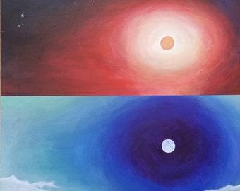 "The Dual Reality Original Acrylic Painting, 20' x 20"""