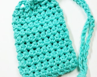 Crochet Soap Saver, Cotton Soap Saver, Mint Green Soap Saver, Crochet Soap Sack, Crochet Soap Bag, Reusable, Ecofriendly