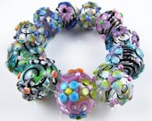 SALE on Glass Hollow Flower Beads (11)