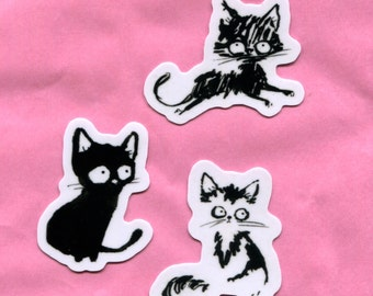 Black Cat Stickers Group 1
