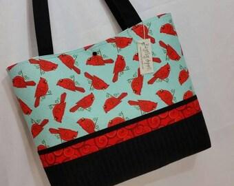Red Cardinals purse tote bag handbag