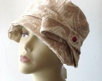 Brocade cloche hat. CUSTOM
