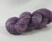 NEW Hand Dyed Mini Skein Merino Silk Fingering Weight Purple 1 ounce 122 yards - get in on mini skein madness!