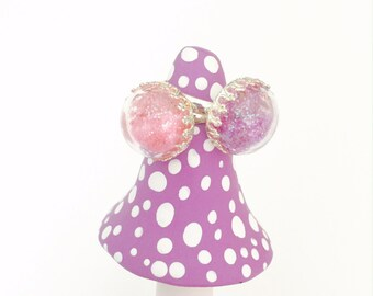 Your Choice of Fairy Dust Ring, Adjustable Ring, Dome top, Magic Fairy Dust, Pink or Purple, Fairy Princess Ring