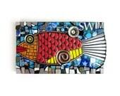 Swim. (Mosaic Fish Wall Hanging by Shawn DuBois)