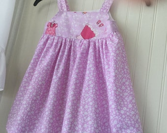 Toddler 12 - 24 Months Sweet Summer Dress With Straps And Gathered Bodice Sarah Jane Fabric