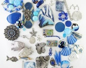 DIY Crafting Kit - Jewelry Destash - Deep Blue Sea