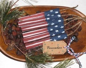 Set of 6 - Primitive - Patriotic - Rustic - USA - July 4th - Americana - Distressed Wooden Firecracker - Bowl Fillers - Party Favors - Tucks