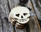 10 . Sugar Skulls Wood Tags . Sugar Skull Wedding Favors . Day of the Dead Dia de los Muertos . Halloween Decorations Halloween Party