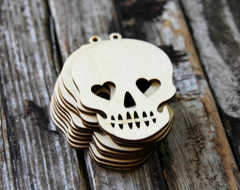 10 . Sugar Skulls Wood Tags . Sugar Skull Wedding Favors . Day of the Dead Dia de los Muertos . Halloween Decorations Halloween Party Decor
