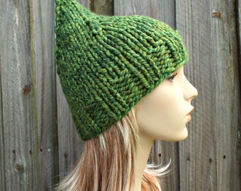 Green Knit Hat Womens Hat - Gnome Hat Spearmint Mixed Green - Green Hat Green Beanie - Womens Accessories Winter Hat