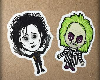 Tim Burton Inspired Retro Cult Movie Stickers