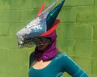 Abstract sequins headdress