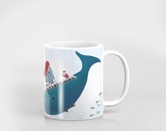 Ponyo fanart mug - goes in microwave, dishwasher, etc