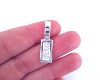 Silver plated Rectangle Bails, pick your amount, A14