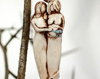 Epecting Moms To Be Personalized Christmas Ornament, Pregnant Ornament, Sisters, Mothers, Friends
