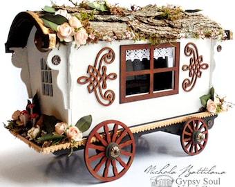 Woodsy Miniature Gyspy Caravan