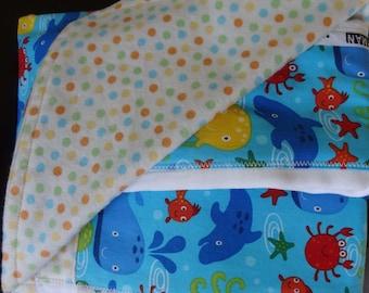 Newborn Gift Set - Peek-A-Boo Splash Receiving Blanket/Burp Cloths