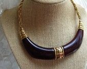 FREE SHIPPING Vintage Trifari Choker Style Necklace
