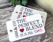 The Perfect Blend, Wedding Tags, Personalized Tags, Custom Wedding Tags, Gift Tags, Personalized, Custom Tags - Set of 20