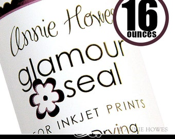 The BEST Glaze for Glass Tile Pendants. Glamour Seal adhesive for Glass Pendants is safe for ink jet prints. 16 oz Pint Size. Annie Howes.